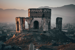 Afghanistan Run Down Ancient Building