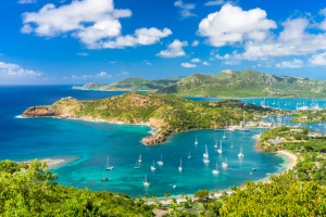 Antigua and Barbuda Islands with Boats in Water