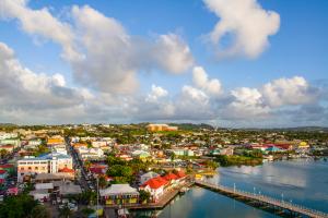 Antigua and Barbuda Skyview of City