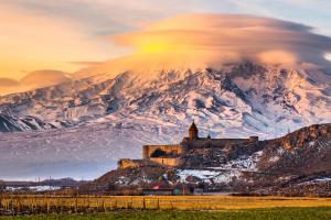 Armenia Snowy Mountain Landscape