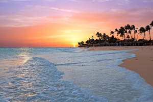Aruba Sunset Beach View