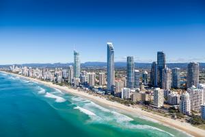 Australia Sky Line with Beach