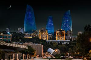 Azerbaijan City Nighttime View