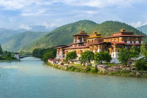 Bhutan Building Over Ocean