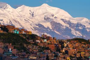 Bolivia Mountain City View