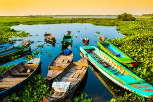 Cambodia Boat View