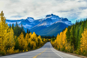 Canada Road with Mountain View