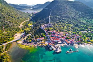 Croatia Mountain City View