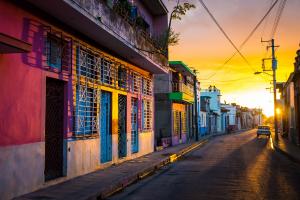 Cuba Sunset Downtown City
