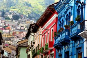 Ecuador Colorful Buildings