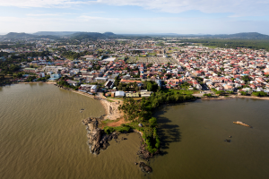 French Guiana Overhead City View