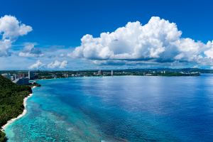 Guam Ocean View with City