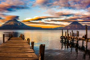 Guatemala Mountain Water View