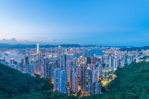 Hong Kong City Over Landscape