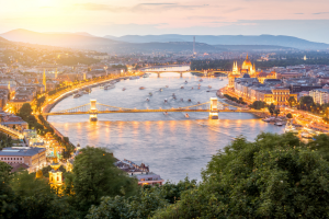 Hungary Bridge City Land View