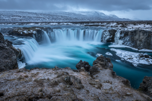 Iceland Waterfall View
