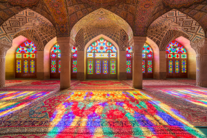 Iran Colorful Building Inside