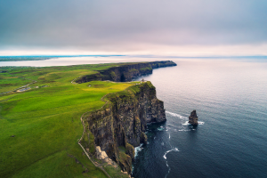 Ireland Cliff View Over Water