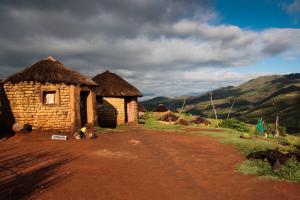 Lesotho Hut View