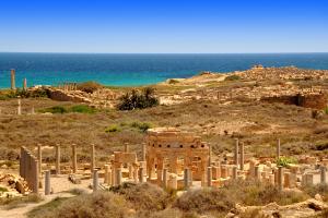 Libya Old Ruins View