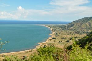 Malawi Beach and Mountain View
