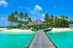 Maldives Beach Hut Bridge