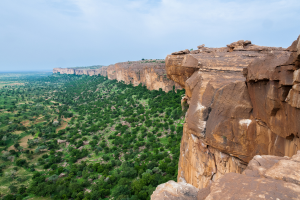 Mali Rock Cliffs and Green Land View