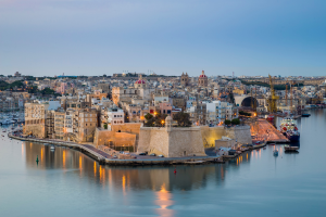 Malta City View Over Water