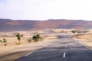 Mauritania Mountains with Road