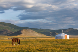Mongolia Mountain Hut View