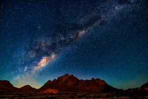 Namibia Desert Night Sky View