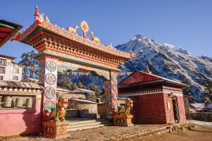 Nepal Mountain Building View