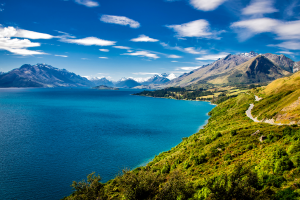 New Zealand Mountains and Water View