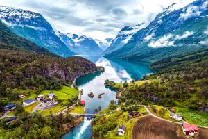 Norway Mountain City View
