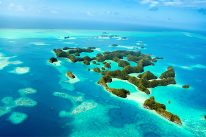 Palau Scattered Island Water View