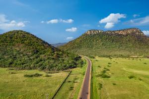 Paraguay Road Between Hills