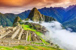 Peru City Landscape Mountain View
