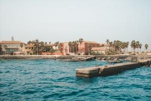Senegal Water with Buildings