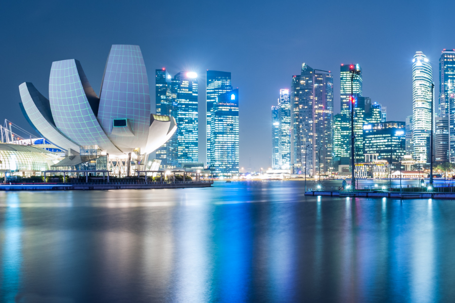 Singapore City Water View