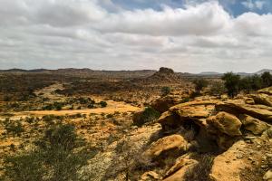 Somalia Rocky Mountain Desert View