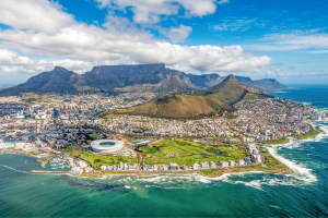 South Africa Overhead View