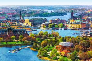 Sweden City Water View