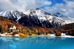 Switzerland Mountain Water View