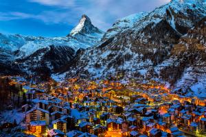 Switzerland Night City View