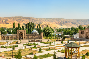 Tajikistan City Mountain View