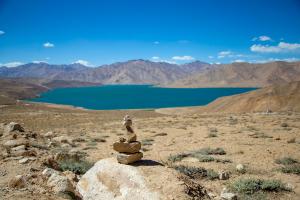 Tajikistan Desert Water View