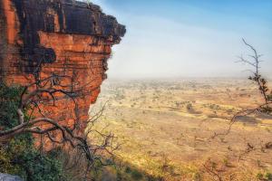 Togo Cliff over Desert