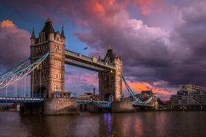 United Kingdom Bridge Sky View