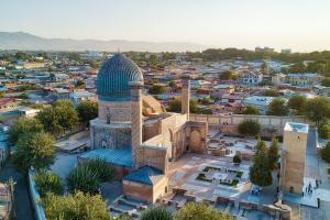 Uzbekistan City Closeup View