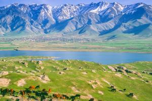 Uzbekistan Mountain Landscape View
